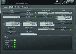 TOPTICA AG - FemtoFiber dichro midIR: TOPAS graphic user interface (included) enables full computer control.