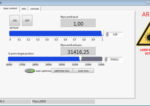 TOPTICA AG - Graphic user interface based on LabVIEW. 